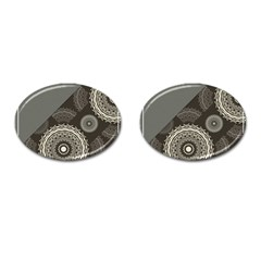 Abstract Mandala Background Pattern Cufflinks (oval)