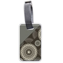 Abstract Mandala Background Pattern Luggage Tags (one Side)  by Simbadda