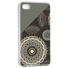 Abstract Mandala Background Pattern Apple Iphone 4/4s Seamless Case (white)