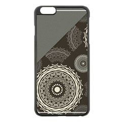 Abstract Mandala Background Pattern Apple Iphone 6 Plus/6s Plus Black Enamel Case