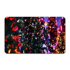 Lit Christmas Trees Prelit Creating A Colorful Pattern Magnet (rectangular) by Simbadda
