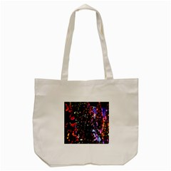 Lit Christmas Trees Prelit Creating A Colorful Pattern Tote Bag (cream)