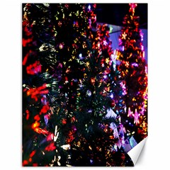 Lit Christmas Trees Prelit Creating A Colorful Pattern Canvas 18  X 24   by Simbadda