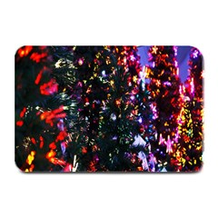 Lit Christmas Trees Prelit Creating A Colorful Pattern Plate Mats by Simbadda