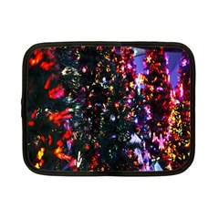 Lit Christmas Trees Prelit Creating A Colorful Pattern Netbook Case (small)