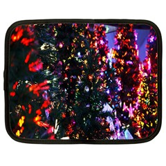 Lit Christmas Trees Prelit Creating A Colorful Pattern Netbook Case (large) by Simbadda