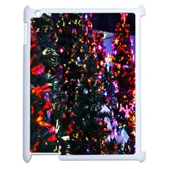 Lit Christmas Trees Prelit Creating A Colorful Pattern Apple Ipad 2 Case (white)