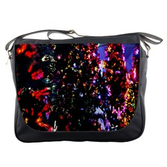 Lit Christmas Trees Prelit Creating A Colorful Pattern Messenger Bags