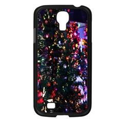 Lit Christmas Trees Prelit Creating A Colorful Pattern Samsung Galaxy S4 I9500/ I9505 Case (black) by Simbadda