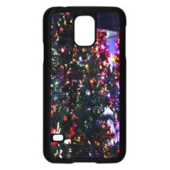 Lit Christmas Trees Prelit Creating A Colorful Pattern Samsung Galaxy S5 Case (black) by Simbadda