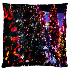 Lit Christmas Trees Prelit Creating A Colorful Pattern Standard Flano Cushion Case (one Side) by Simbadda