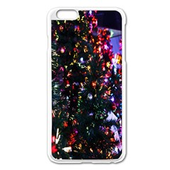 Lit Christmas Trees Prelit Creating A Colorful Pattern Apple Iphone 6 Plus/6s Plus Enamel White Case