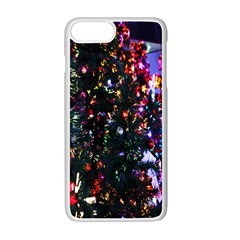 Lit Christmas Trees Prelit Creating A Colorful Pattern Apple Iphone 7 Plus White Seamless Case by Simbadda