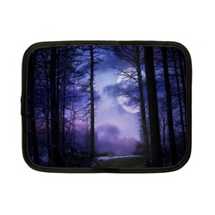 Moonlit A Forest At Night With A Full Moon Netbook Case (small)  by Simbadda