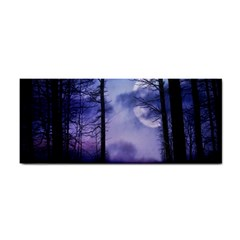 Moonlit A Forest At Night With A Full Moon Cosmetic Storage Cases by Simbadda