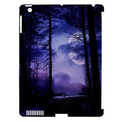 Moonlit A Forest At Night With A Full Moon Apple Ipad 3/4 Hardshell Case (compatible With Smart Cover) by Simbadda