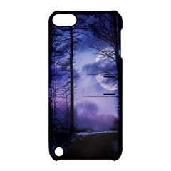 Moonlit A Forest At Night With A Full Moon Apple Ipod Touch 5 Hardshell Case With Stand by Simbadda