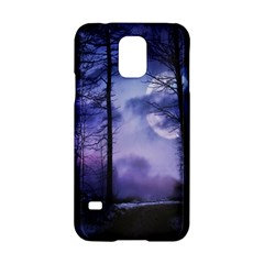 Moonlit A Forest At Night With A Full Moon Samsung Galaxy S5 Hardshell Case  by Simbadda