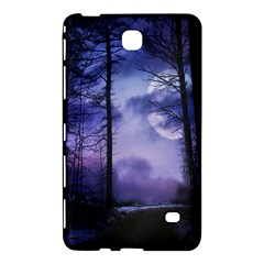 Moonlit A Forest At Night With A Full Moon Samsung Galaxy Tab 4 (7 ) Hardshell Case