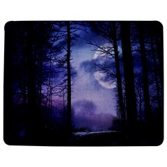 Moonlit A Forest At Night With A Full Moon Jigsaw Puzzle Photo Stand (rectangular) by Simbadda