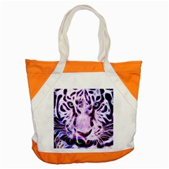 Fractal Wire White Tiger Accent Tote Bag by Simbadda