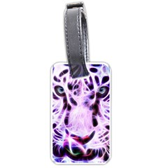 Fractal Wire White Tiger Luggage Tags (two Sides) by Simbadda