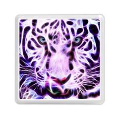 Fractal Wire White Tiger Memory Card Reader (square)  by Simbadda