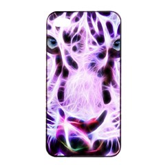 Fractal Wire White Tiger Apple Iphone 4/4s Seamless Case (black) by Simbadda