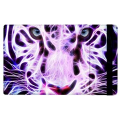 Fractal Wire White Tiger Apple Ipad 2 Flip Case by Simbadda