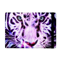Fractal Wire White Tiger Apple Ipad Mini Flip Case by Simbadda