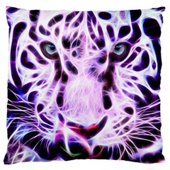 Fractal Wire White Tiger Standard Flano Cushion Case (one Side) by Simbadda