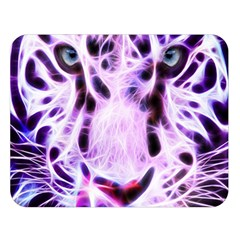 Fractal Wire White Tiger Double Sided Flano Blanket (large)  by Simbadda