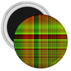 Multicoloured Background Pattern 3  Magnets by Simbadda