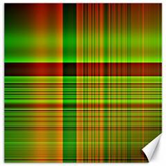 Multicoloured Background Pattern Canvas 16  X 16   by Simbadda