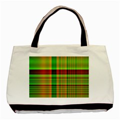 Multicoloured Background Pattern Basic Tote Bag (two Sides) by Simbadda