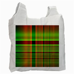 Multicoloured Background Pattern Recycle Bag (two Side)