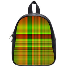 Multicoloured Background Pattern School Bags (small)  by Simbadda