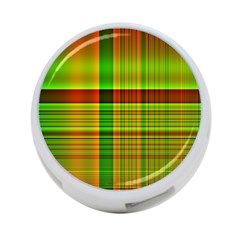 Multicoloured Background Pattern 4 Port Usb Hub (one Side)