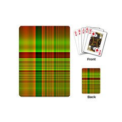 Multicoloured Background Pattern Playing Cards (mini)  by Simbadda