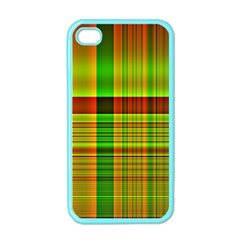 Multicoloured Background Pattern Apple Iphone 4 Case (color) by Simbadda