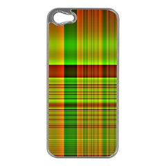 Multicoloured Background Pattern Apple Iphone 5 Case (silver) by Simbadda