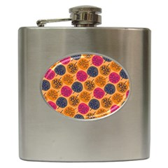 Colorful Trees Background Pattern Hip Flask (6 Oz) by Simbadda