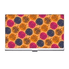 Colorful Trees Background Pattern Business Card Holders by Simbadda