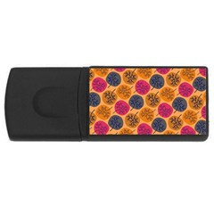 Colorful Trees Background Pattern Usb Flash Drive Rectangular (4 Gb) by Simbadda