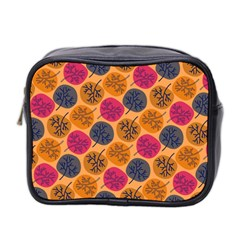 Colorful Trees Background Pattern Mini Toiletries Bag 2 Side by Simbadda