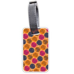 Colorful Trees Background Pattern Luggage Tags (two Sides) by Simbadda