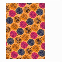 Colorful Trees Background Pattern Small Garden Flag (two Sides) by Simbadda