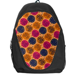 Colorful Trees Background Pattern Backpack Bag by Simbadda
