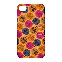 Colorful Trees Background Pattern Apple Iphone 4/4s Hardshell Case With Stand