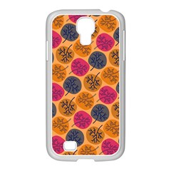 Colorful Trees Background Pattern Samsung Galaxy S4 I9500/ I9505 Case (white)
